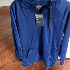 New nike Dri fit zip up hoodie